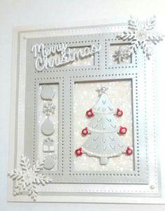 Sue Wilson Simple Christmas Cards, Christmas 2017, Xmas Cards, Handmade Christmas, Christmas Shadow Boxes, Spellbinders Cards, Sue Wilson, Winter Cards, Card Ideas