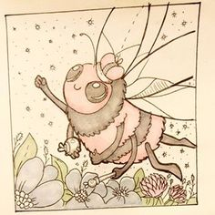 Королева пчёл - Qween Bee 5день челенджа #folktaleweek #folktaleweek2018 #day5 #willborg #art #bee #insect