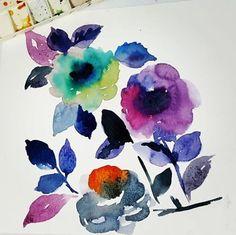 #ilustrations #studioartimus #surfacedesign #watercolors #estampas #watercolorpainting #praticemakeperfect #printoftheday #flowers #designtextil #art #artwork (em Búzios, Brazil)