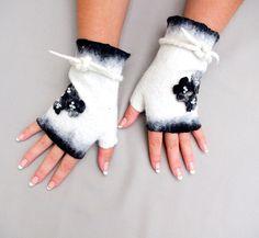 Free shipping Felted Fingerless Gloves Fingerless от LBFelt
