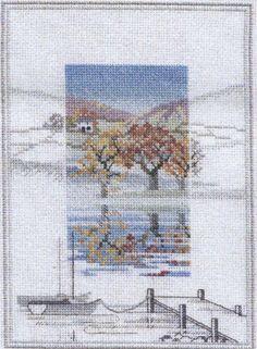 Boat Landings - Misty Mornings - Cross Stitch Kit by Derwentwater Designs Cross Stitch House, Just Cross Stitch, Cross Stitch Flowers, Cross Stitch Kits, Cross Stitch Charts, Cross Stitch Designs, Cross Stitch Patterns, Cross Stitching, Cross Stitch Embroidery