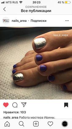 Glitter Toe Nails, Shellac Nails, Pedicure Nails, Pedicures, Pretty Toe Nails, Fancy Nails, Hot Nails, Hair And Nails, Fingernails Painted