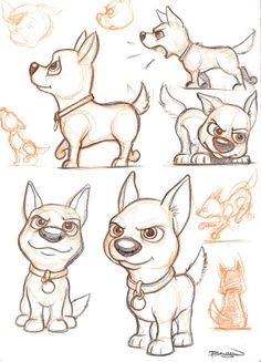 Cute Dog Sketches by Craig Bruyn, via Behance Looks like Bolt ⚡ Cartoon Cartoon, Cartoon Sketches, Animal Sketches, Animal Drawings, Art Sketches, Cute Dog Cartoon, Dog Drawings, Cute Dog Drawing, Cute Drawings