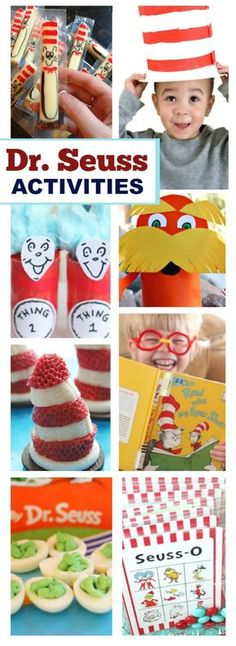 30 DR. SEUSS ACTIVITIES & CRAFTS FOR KIDS- these are too cute!