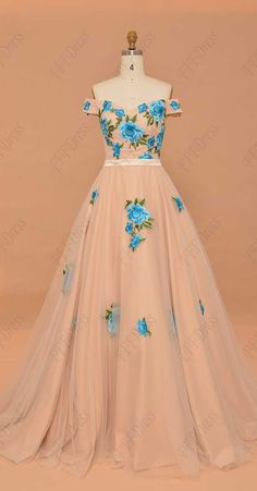 Ball gown prom dresses with embroidery off the shoulder prom dresses quinceanera dresses champagne prom dresses pageant dresses