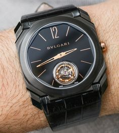 """Ariel Adams reviews the Bulgari Octo Finissimo & Tourbillon watches.  With a distinctive squared case and on even being the """"thinnest tourbillon"""" in the world."""