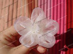 Biele kvety sponky tkaniny na svadbu (príčesky)
