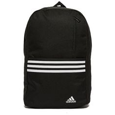 adidas Versatile 3-Stripes Backpack (1,190 PHP) ❤ liked on Polyvore featuring bags, backpacks, mesh bag, sports backpack, adidas bag, striped backpack and stripe backpack