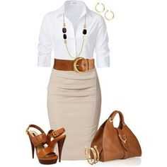I love how the earth tones were mixed by a nice blue and gold necklace.  It accentuated the look well.