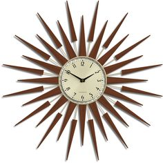 Newgate Pluto Wall Clock - Brown (4.760 UYU) ❤ liked on Polyvore featuring home, home decor, clocks, battery clock, dial clocks, battery operated clocks, newgate wall clock and brown home decor