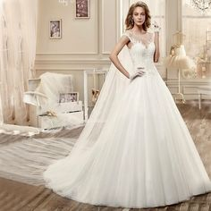 Wedding Dresses With Flowing Long Shawl Vintage Lace Applique O Neck Cap Sleeve See Through Wedding Dresses Robe De Mariage