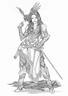 Pin by daniel thurston on viking tattoo sleeve ideas in 2019 character art, Female Character Concept, Character Design Cartoon, Character Art, Fantasy Warrior, Fantasy Rpg, Fantasy Characters, Female Characters, Comic Art, Evvi Art