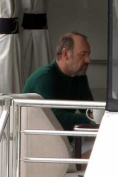 Kevin Spacey on M.v Tango cruising the harbour