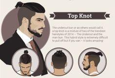 Top knot undercut bun mens hair