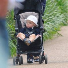 Prince George was spotted out for a stroll in Hyde Park, being pushed in a pram by his nanny, Maria Teresa Turrion Borrallo on 11 July 2014