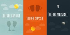 The Before Trilogy - Before Sunrise + Before Sunset + Before Midnight Before Midnight, Before Sunrise, Movie Poster Art, Film Posters, Before Trilogy, Julie Delpy, Minimal Movie Posters, Alternative Movie Posters, Nightmare On Elm Street