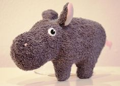 Rassel-Knister-Greifling, Nilpferd Mimi // rattle, grasping toy, plush hippo by Puccino via dawanda.com