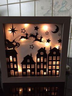 Kerst decoratie in een kader
