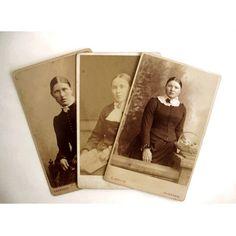 3 Antique CDV Photographs Victorian Ladies with Lace Carte de Visite | AestheticsAndOldLace - Photography on ArtFire