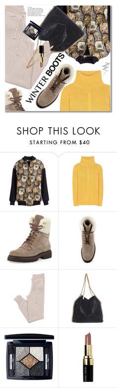"""So Cozy: Winter Boots"" by svijetlana ❤ liked on Polyvore featuring STELLA McCARTNEY, Loro Piana, Moncler, GANT, Christian Dior, Bobbi Brown Cosmetics, NYX and winterboots"