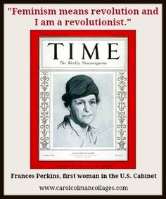 The First Woman To Serve In Cabinet, Frances Perkins, | Women Who Inspire |  Pinterest | Frances Perkins