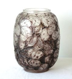 "Look like Silver Dollars. We had one in our yard growing up. Love this! ""Rene Lalique Monnaie du Pape vase, ca. 1914"""