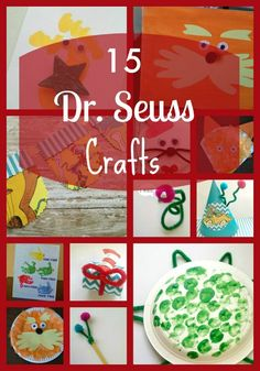 15 Dr. Seuss themed crafts to celebrate his birthday