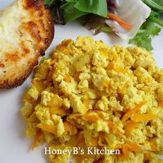 Mom's Scrambled Tofu recipe is a delicious vegan recipe full of flavor. It is a low carb alrternate to eggs, and is great for those with egg allergies. Tofu Recipes, Delicious Vegan Recipes, Vegetarian Recipes, Healthy Recipes, Healthy Foods, Healthy Life, Eating Healthy, Healthy Living, Yummy Food