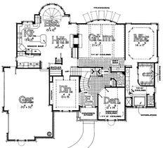 European House Plan 94990 Level One