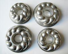 4 vintage french molds dessert pans via Etsy http://www.etsy.com/listing/119370528/4-vintage-french-molds-dessert-pans?ref=teams_post