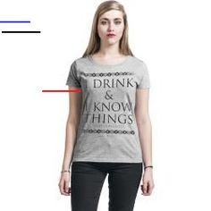 #gameofthrones - Offizieller & Lizenzierter Fanartikel bei Emp Game Of Thrones Tyrion Lannister - I Drink And I Know Things T-Shirt für Damen in den Größen S, M, L, Xl, Xxl verfügbar. Details: Farbe: grau meliert Muster: Meliert Hauptmaterial: 90% Baumwolle, 10% Polyester Passform: Regular Ärmelform: Normaler Ärmel Ärmellänge: Kurzer Ärmel Ausschnitt: Rundhals Kragenform: Kragenlos... Game Of Thrones Tyrion, Game Of Thrones Books, Game Of Thrones Fans, The North Remembers, Khal Drogo, Chris Martin, Sansa Stark, Maisie Williams, Sophie Turner