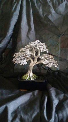 Aluminium wire bonsai tree small