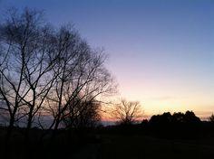 菰野地区 日の出までもう少し