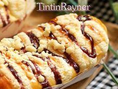 Roti Bread, Bread Bun, Bread Cake, Bread Recipes, Cake Recipes, Cooking Recipes, Resep Cake, Roti Recipe, Blueberry Crumble