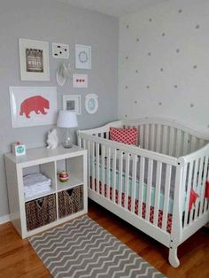 Simple nursery ideas for girls eclectic and dreamy nursery gray nursery nursery kids bedroom baby room Baby Bedroom, Baby Boy Rooms, Baby Boy Nurseries, Nursery Room, Girl Nursery, Girl Room, Kids Bedroom, Nursery Decor, Nursery Ideas