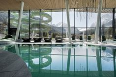 Swimming pool  water center Dolaondes in Canazei Val di Fassa - Dolomites