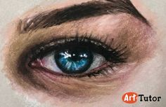 How to draw an eye with pastel pencils. This is one of 10 lessons taken from the Pastel Pencil Portraits course now available on ArtTutor.