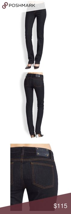 """TORY BURCH Straight Leg Jeans TORY BURCH Straight Leg Jeans. Size 26 (Size tag has been removed) Inseam is approximately 26.5"""". Waist measured flat across is approximately 13.5"""". No stretch, runs a little small. Excellent Condition- no stains or defects. Retails for over $185 Tory Burch Jeans Straight Leg"""