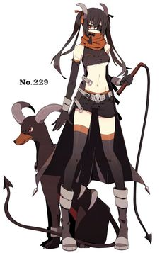 gijinka human version pokemon, houndoom: