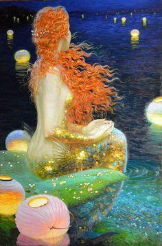 Home Decor Hd Prints Oil Painting Art On Canvas Wall Art Fantasy Mermaids & Garden Mermaid Fairy, Mermaid Tale, Fantasy Mermaids, Mermaids And Mermen, Victor Nizovtsev, Mermaid Artwork, Poses References, Galerie D'art, Fine Art Gallery