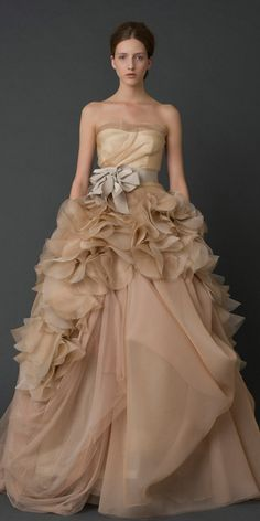 Don't usually like too much pleating but this will work--if you're tall enough! Vera Wang Hayley