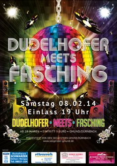 """Dudelhofer meets Fasching"" powered by #Seegeister! #Gmund #Tegernsee #Poster - www.studio-tegernsee.de"