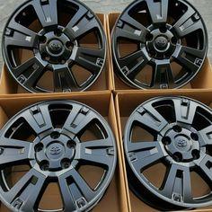 "Toyota Tundra Platinum Oem Factory 20"" Wheels Rims New Powder Coat Satin Black · $1,150.00 Trd Pro Wheels, 20 Wheels, Toyota Trd Pro, Toyota Tacoma, Toyota Tundra Platinum, 20 Rims, Fj Cruiser, Oem, Powder"