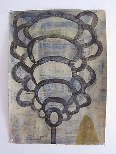 """Mark Goodwin, 2010   Growth , milk paint and beeswax on paper  21"""" x 15"""""""