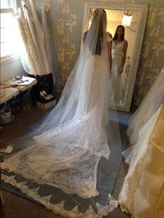 Última prova da nossa noivinha linda Andreza Belo! Wedding Dress Atelier Carla Gaspar.