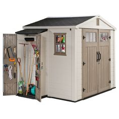 Found it at Wayfair - Infinity Shed with Side Cabinet in Beige