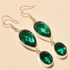 Clip On Earrings – Chrome Diopside .925 Silver Handmade Earrings – a unique product by 925silvercollection on DaWanda