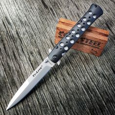 "New Cold Steel XHP 4"" Ti-Lites have arrived! Get it while it's hot www.coldsteel.com Specifications: Weight: 4.6 oz. Blade Thickness: 3 mm Blade Length: 4"" Handle: 4 3/4"" Long. 7075 Aluminum Overall: 8 3/4"" Steel: Carpenter CTS® XHP Alloy Pocket Clip: Stainless Pocket / Belt Clip #coldsteel #edc #usn #knifenut #knife #knives"