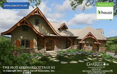 Hot Springs Cottage House Plan 11063, Front Elevation, Mountain House Plans
