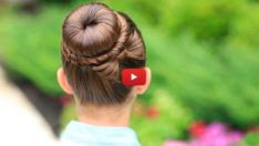 The Perfect Bow Bun Updo - Cute Girls Hairstyles Prom Hairstyles For Short Hair, Cute Hairstyles For Kids, Twist Hairstyles, Pretty Hairstyles, Childrens Hairstyles, Perfect Hairstyle, Hairstyle Ideas, Ladies Hairstyles, Updos Hairstyle
